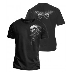 T-Shirt - Skulls and Flowers