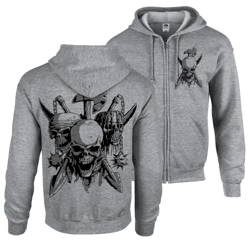 Zipper - Skulls & Arms