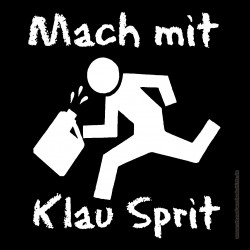 Sticker - Mach mit klau Sprit