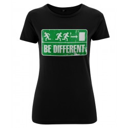 Ladyshirt - Be Different - Vorderseite