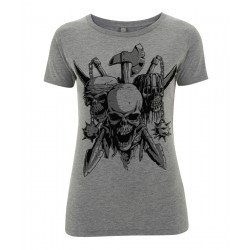 Ladyshirt - Skulls and Arms - Front
