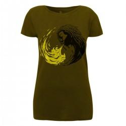 Ladyshirt - Ying & Yang Rasta